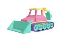 Crawler Tractor With Bucket Ca...