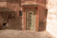 Old Green Door In Marrakech