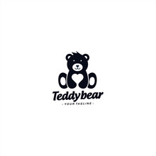 Teddy Bear Logo Design Templat...