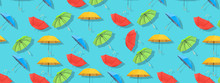 Multi-colored Umbrellas Patter...