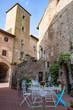 Certado Alto: historische und malerische Stadt, Toskana, Italien