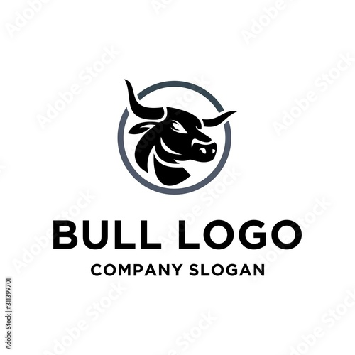 Valokuva Bull Vector Graphic Template Download Modern