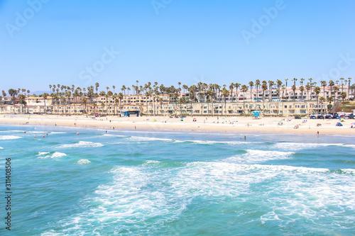 Oceanside Beach California taken from the Oceanside Pier Wallpaper Mural