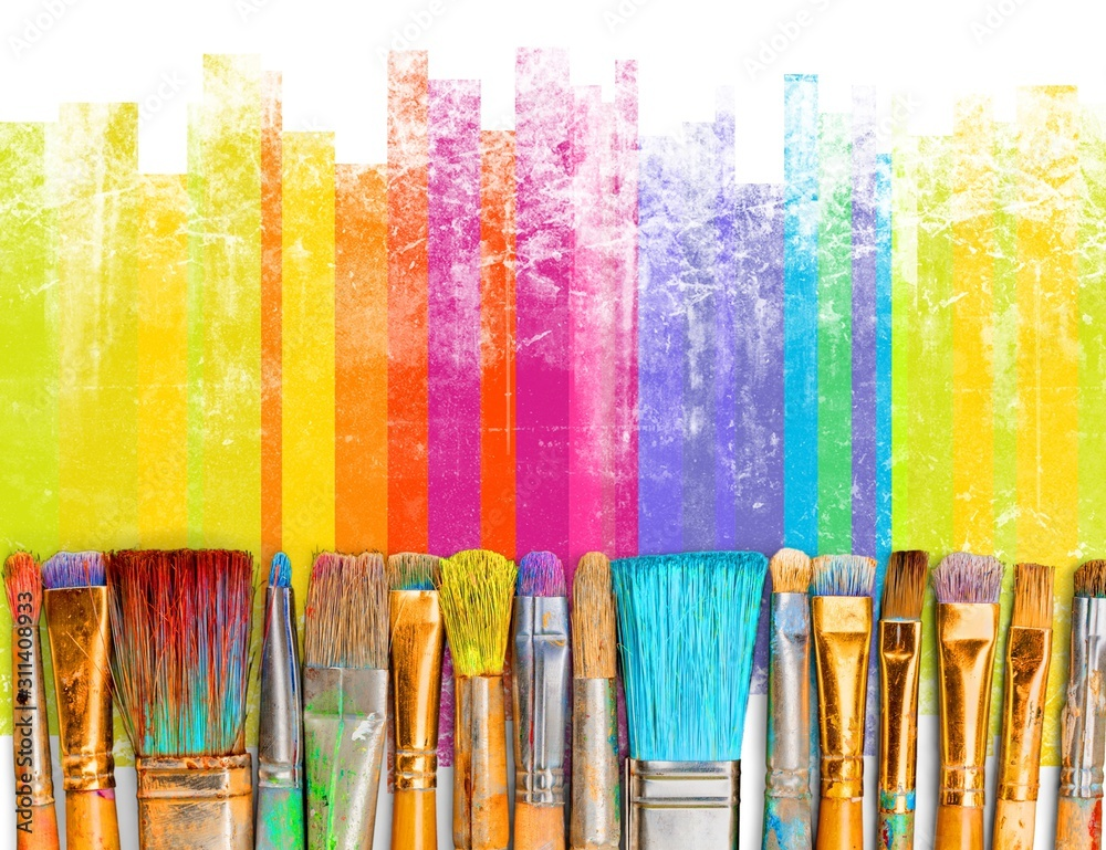 Fototapeta Paintbrush art paint creativity craft backgrounds exhibition