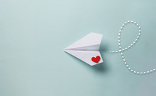 Paper Love Airplane On Color B...