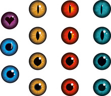 Eye Collection Iris Pupil, Red...