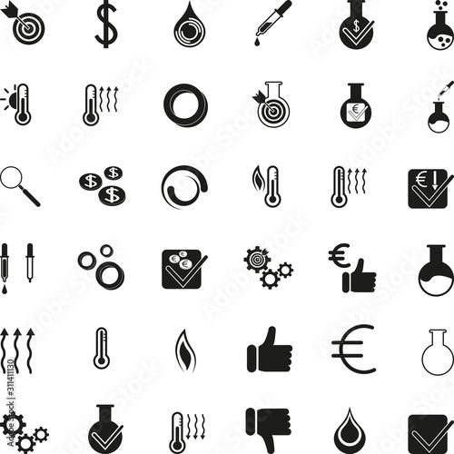 Photo Verschiedene Chemie Icons Sammlung