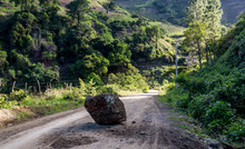 Dramatic Image Of A Large Rock...