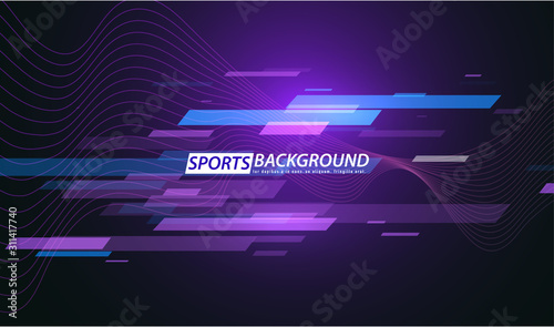 Photo Abstract colored poster for sports