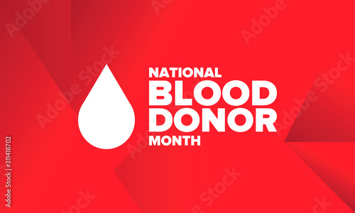 Fotografía  National Blood Donor Month