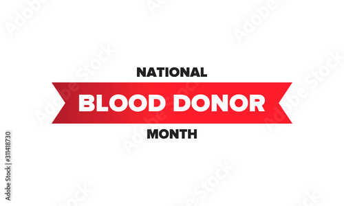 Cuadros en Lienzo  National Blood Donor Month
