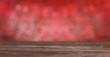 Leinwanddruck Bild Wooden bokeh light background