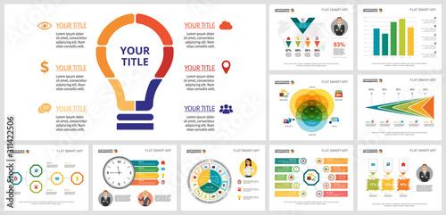 Trendy infograph template set