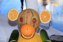 Carved Fruit Monkey