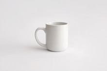 White Cup With Handle For Hot Drinks