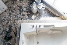 Bathroom Interior Under Construction