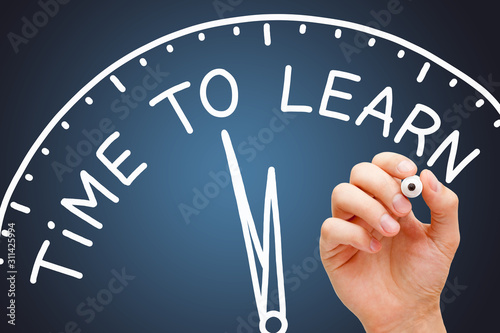 Fotografía Time To Learn Educational Clock Concept