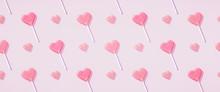 Pastel Pink Flat Lay Heart Sha...