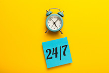 Service 24/7 Concept. Online Assistance And Available.