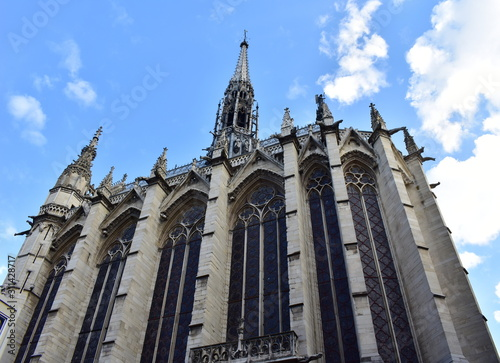 The Sainte Chapelle gothic landmark, exterior view with stained glass windows, buttress and spire Tapéta, Fotótapéta