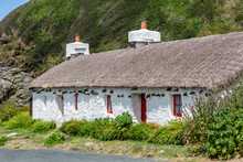 Traditional Thatched Cottage On Isle Of Man