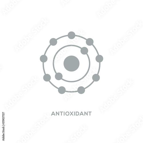 Photo Antioxidant vector icon, radical free oxidant molecule