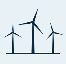 Wind Vector Turbine Icon. Wind...
