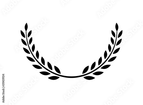Fotografia Laurel wreath vector award branch victory icon