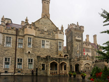 Casa Loma On A Rainy Day In Toronto Looking From The Gardens