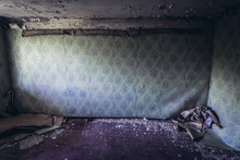 Wall In Abandoned Apartment In...