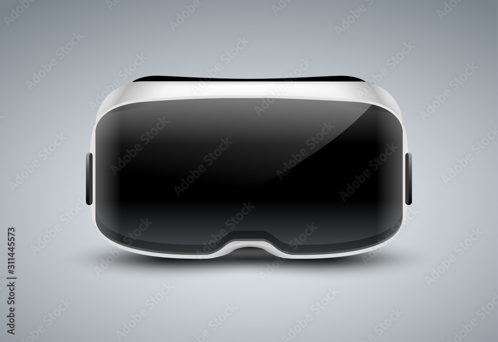 VR glasses vector virtual reality headset icon. Virtual reality helmet isolated goggles device illustration
