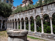 Genoa, Italy St Andrew cloister ruins. An old temple complex situated close to Porta Soprana and Christopher Columbus' House in Genoa Italy. Interesting tourist attraction