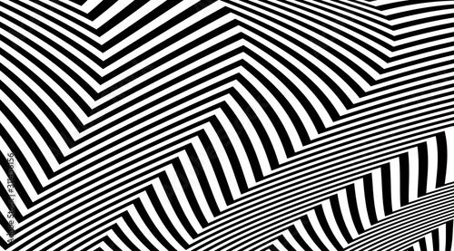 Abstract zig zag optical illusion background Obraz na płótnie