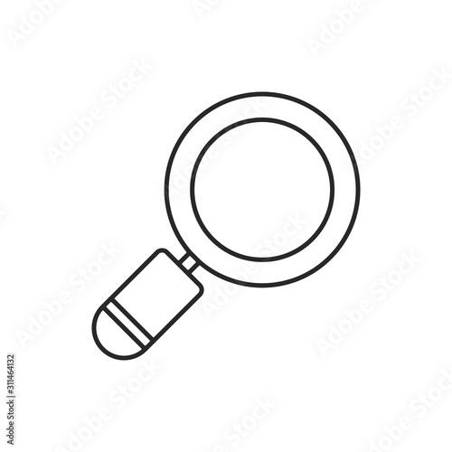 Fototapeta magnifier, search, loupe vector icon. obraz na płótnie