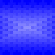 Blue Rectangles And Squares Repeat Pattern Background. Abstract 3D Geometric Background Vector.