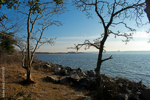 Photo  View of Sandy Hook Bay from North end of Sandy Hook, Highlands, Middletown, New