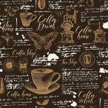 Vector Seamless Pattern On Tea...