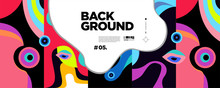 Colorful Abstract Banner Template With Dummy Text For Web Design, Landing Page, Social Media Story, And Print Material.