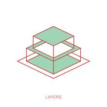 Layers Design Stack Icon