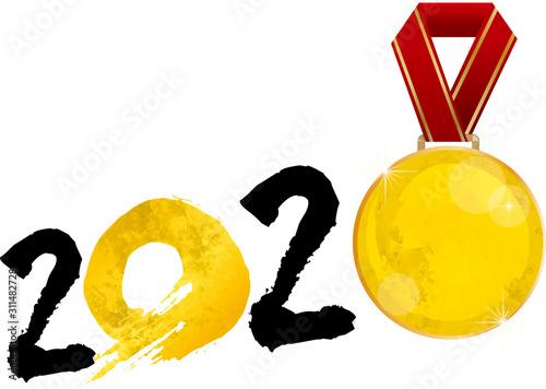 Fotografía 金メダル:金 水彩 2020年 金メダル 東京 東京オリンピック 東京五輪 五輪 スポーツ