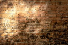 Old Red Brick Wall Background ...