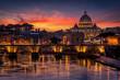 Magnificent  twilight in Roma Italia