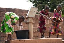 African Children At A Public B...