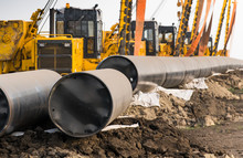 Construction Of A New Gas Pipe...