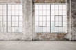 Leinwandbild Motiv 3d render of empty industrial vintage interior