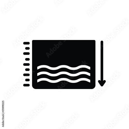 Cuadros en Lienzo  Black solid icon for fewer