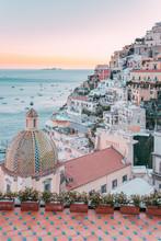 Positano At Sunset, Amalfi Coa...
