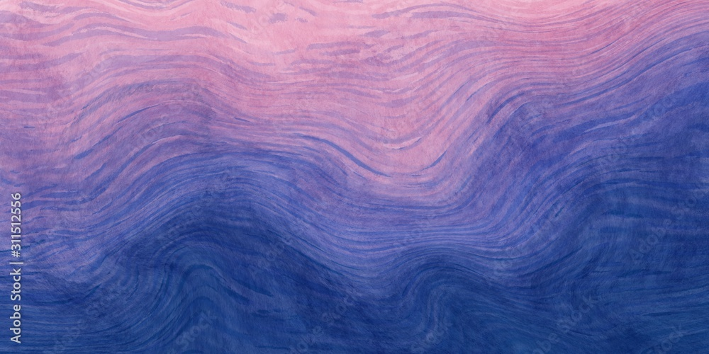 Abstract paint purple and blue with wavy brush stroke lines texture for backgrounds.