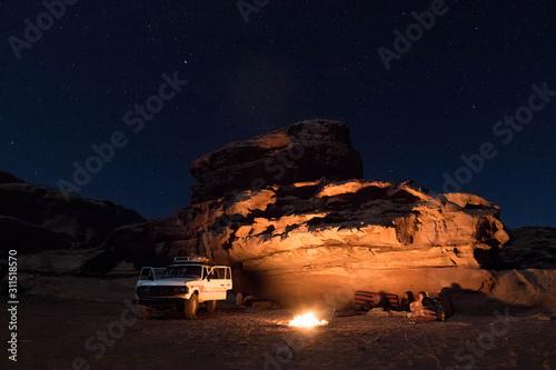 Photo Nuit dans le Wadi Rum