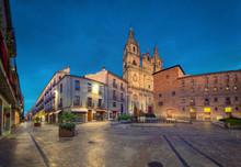 La Clerecia Church At Dusk In Salamanca, Spain (HDR-image)